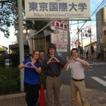 LeeAnn Genovese (graduated 2012), Kodiak Atwood (2013), and Ryan Felix (2013) are Global Teaching Fellows at Toyko International University in Japan. Lindsay Deland (2014) has recently joined them.