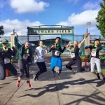 The LTS Eye of the Tiger running group celebrates completing the Eugene Fun Run