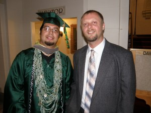 Pyuwa Bommelyn and fellow cohort member Marc Arndt at the 2011 LTS commencement ceremony